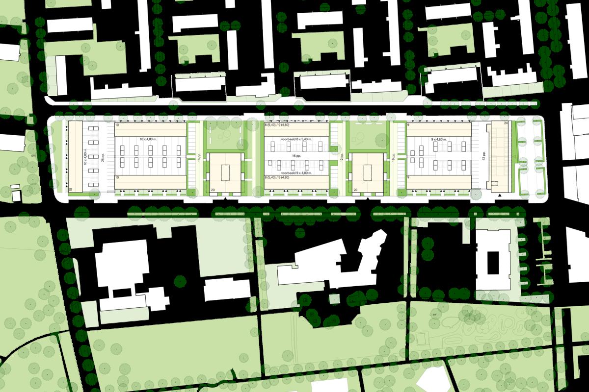 De Nijl Architecten - Verkavelingsplan woningbouw Bachlaan